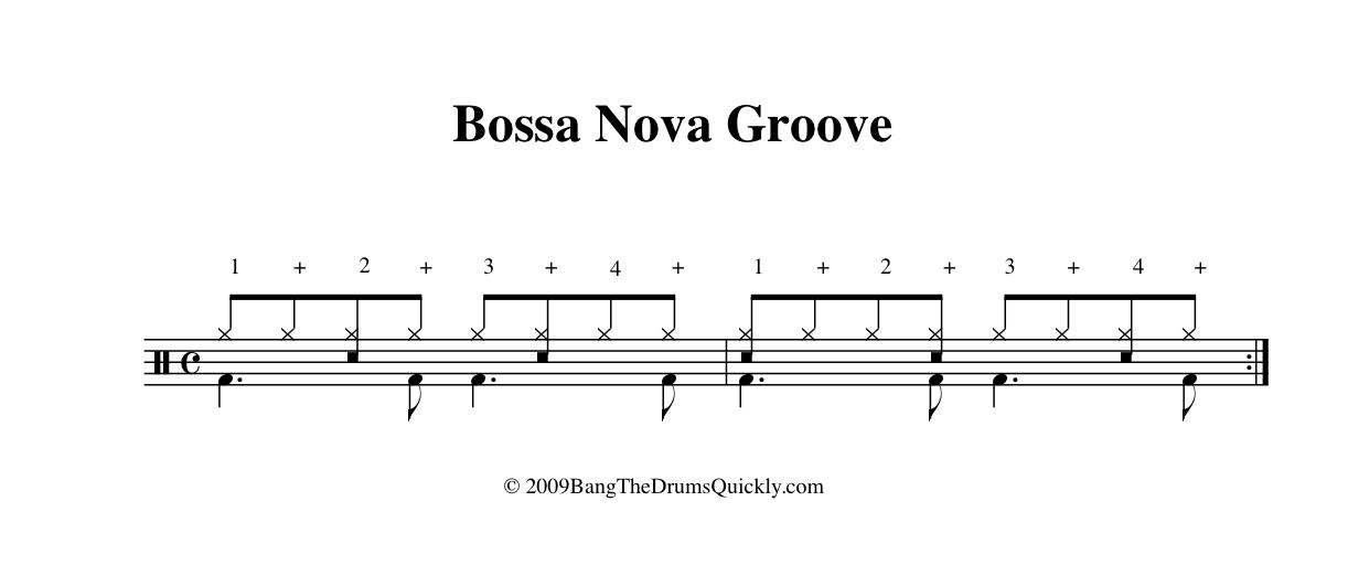 bossa nova drum pattern pdf