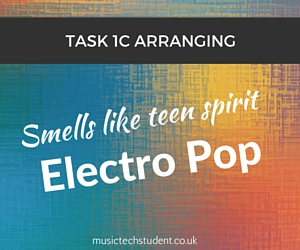 Music Tech Task 1C Course Electro pop with smells like teen spirit