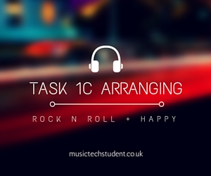 Task 1C Arranging Happy with Rock n Roll