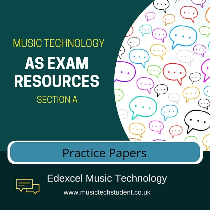 AS Music Technology Practice Papers Course Image