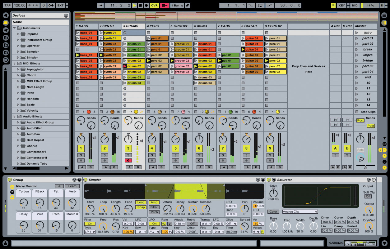 getting started with ableton live music technology student. Black Bedroom Furniture Sets. Home Design Ideas