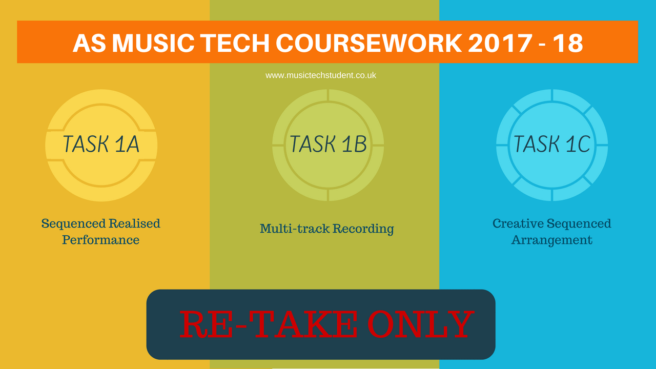 AS Music Technology Unit 1 Portfolio 1 2017 - 18 Re-takes only