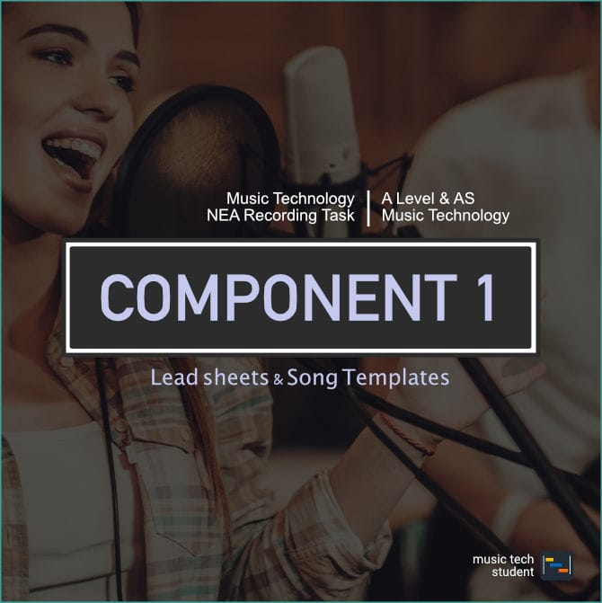 Component 1 recording Lead sheets and templates