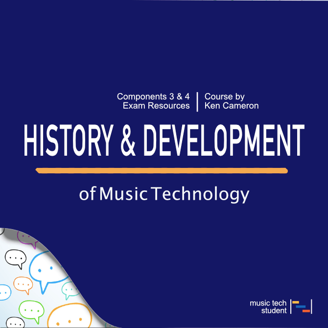 The history and development of music technology