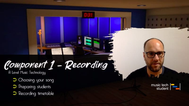 Component 1 recording timetable
