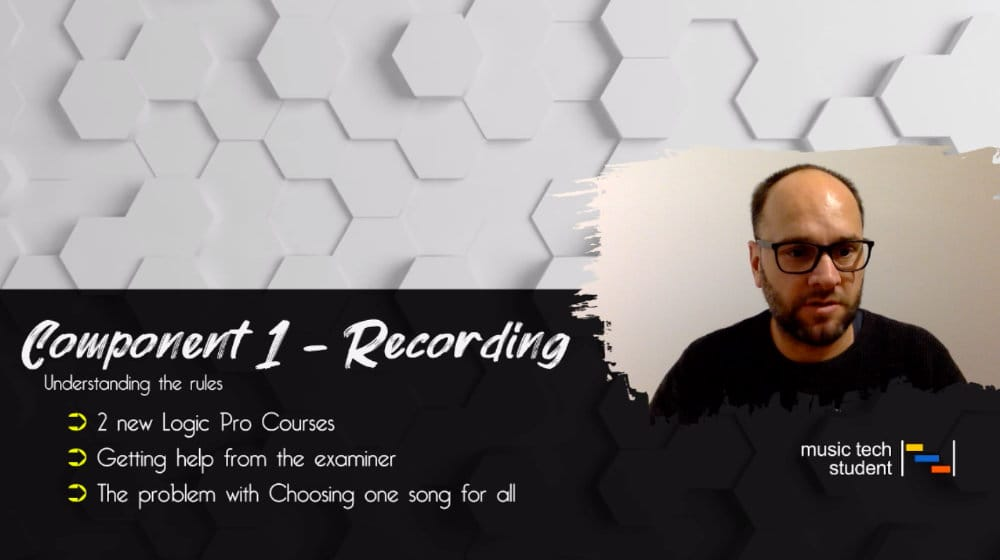 Component 1 - Recording - Understanding the rules